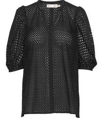 debbyiw blouse blouses short-sleeved zwart inwear