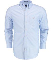 gant overhemd lange mouw lichtblauw 3046000/468