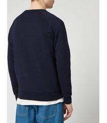 maison kitsune men's palais royal sweatshirt - navy - s