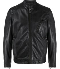 belstaff stitched panel jacket - black