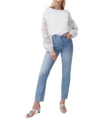french connection josephine lace-sleeve sweater