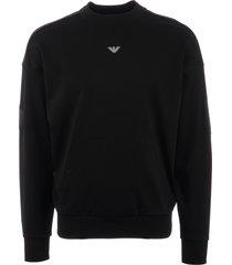 emporio armani logo sweatshirt - nero 3g1m961jsqz