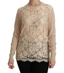 lace long sleeve top cashmere blouse