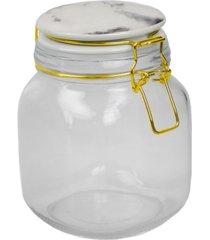 hds trading 32 oz. canister with marble printed ceramic top