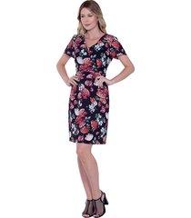vestido love poetry floral preto
