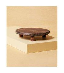 objeto decorativo de madeira cor: natural - tamanho: único