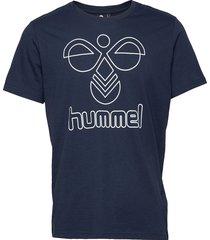 hmlpeter t-shirt s/s t-shirts short-sleeved blå hummel