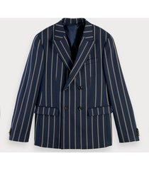 scotch & soda double breasted wool blend blazer