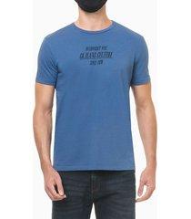 camiseta mc regular frase meia reat gc - azul médio - pp