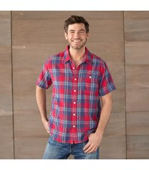 kahuna plaid shirt - red