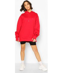 extreme oversized hoodie, rood