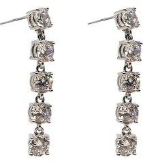 stringin ear silvery clear örhänge smycken silver pipol's bazaar