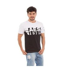 camiseta aes 1975 black & white masculina
