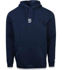 moletom canguru fechado new york yankees mlb new era masculino