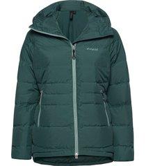 stranda down hybrid w jkt outerwear sport jackets groen bergans
