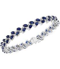 effy sapphire (9-1/2 ct. t.w.) & diamond (3/4 ct. t.w.) leaf bracelet