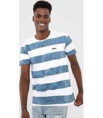 camiseta rip curl bold gabe branca/azul