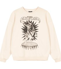 alix the label oversized bull sweater ecru