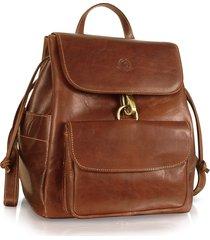 chiarugi designer handbags, handmade brown genuine leather backpack
