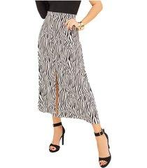 falda amaia blanco para mujer croydon