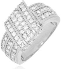 anel monica di capri semi jóias x ouro branco