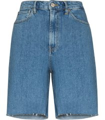 3x1 claudia denim bermuda shorts - blue