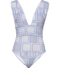alvina swimsuit badpak badkleding blauw by malina