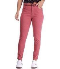 calça sarja pernambucanas skinny com bolsos feminina