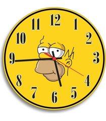 relógio de parede decorativo homer simpson único