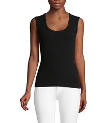 sleeveless scoopneck top