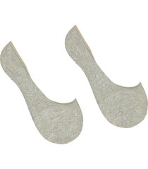 calzedonia - cotton no-show socks, 40-41, nude, women