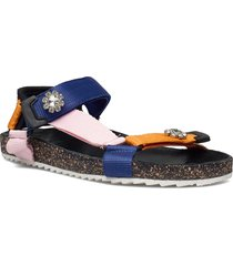 velcro galia sandal shoes summer shoes flat sandals orange becksöndergaard
