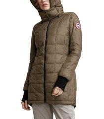 women's canada goose ellison packable down jacket, size large (10-12) - green
