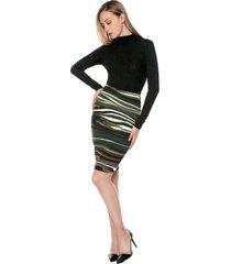 falda lapiz ref. 127484 charby verde estamp