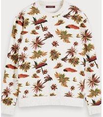 scotch & soda nepped sweater met print