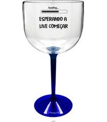2 taã§as gin transparente com base azul personalizada para live - incolor - dafiti