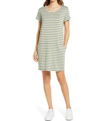 women's caslon knit shift dress, size large - green
