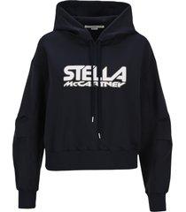 stella mccartney scuba logo print hoodie