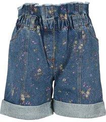 philosophy floral-print denim shorts
