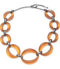 alexis bittar women's gunmetal-tone & lucite statement necklace