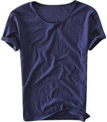 verano hombres respirablesalgodónmanga corta camiseta