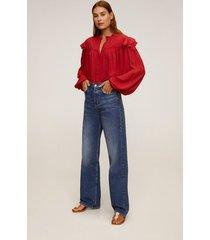 blouse met maokraag