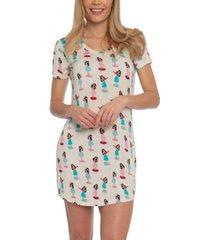 nite nite by munki munki hula girl sleepshirt nightgown, online only