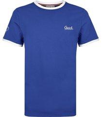 q1905 t-shirt captain hard blauw/wit