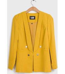 blazer ash liso amarillo - calce regular