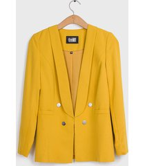 blazer ash liso amarillo - calce regular