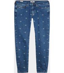 jeans skinny estrellas azul tommy jeans