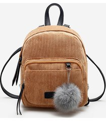fuzzy ball canvas small backpack