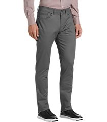 joseph abboud gray micro dot modern fit casual pants
