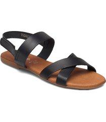 biabrooke cross sandal shoes summer shoes flat sandals svart bianco